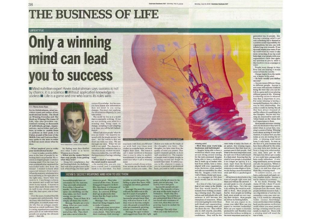 Kevin abdulrahman  a winning mind