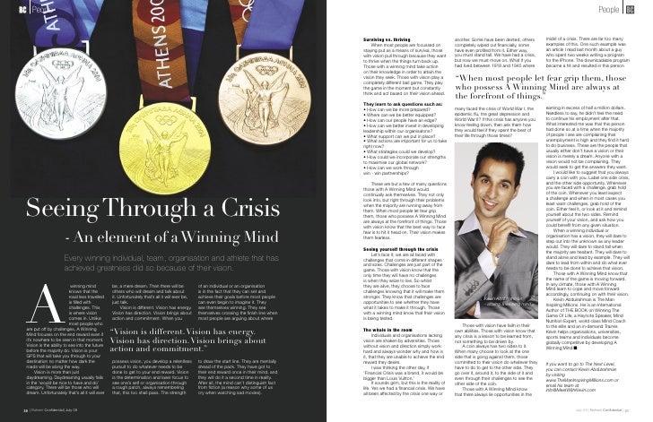 Kevin abdulrahman  beyond the crisis
