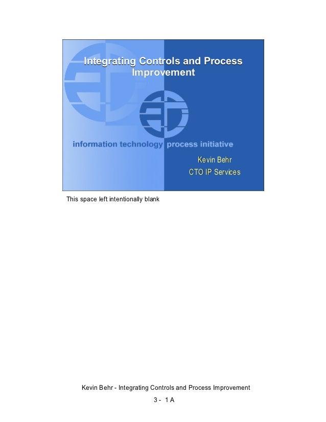 Integrating Controls and Process                                        Improvement                                       ...
