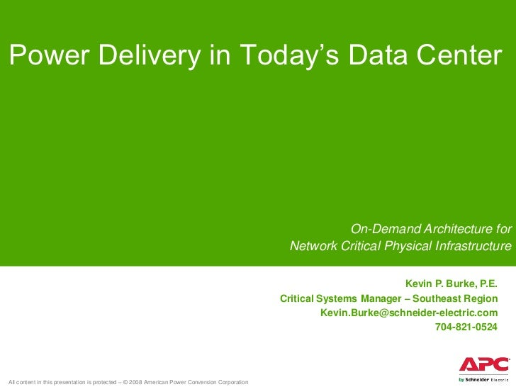 Power Delivery in Today's Data Center                                                                                     ...