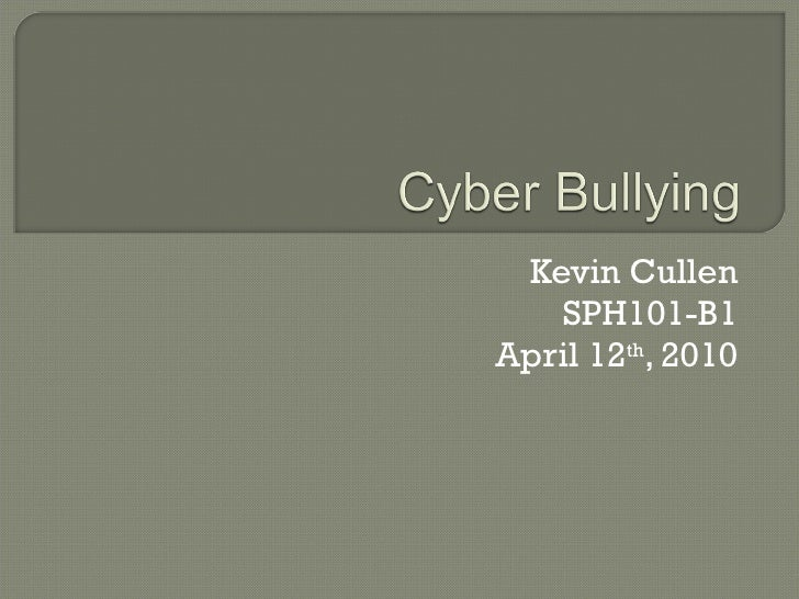 Kevin Cullen Cyber Bullying
