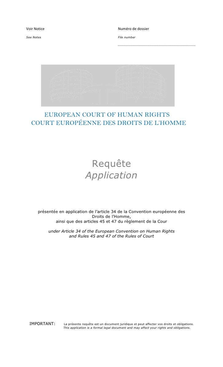 Kevin Galalae Vs. The United Kingdom At The European Court Of Human Rights