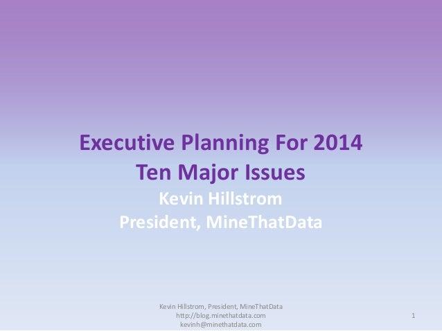 Kevin hillstrom mine_thatdata_executiveplanning2014