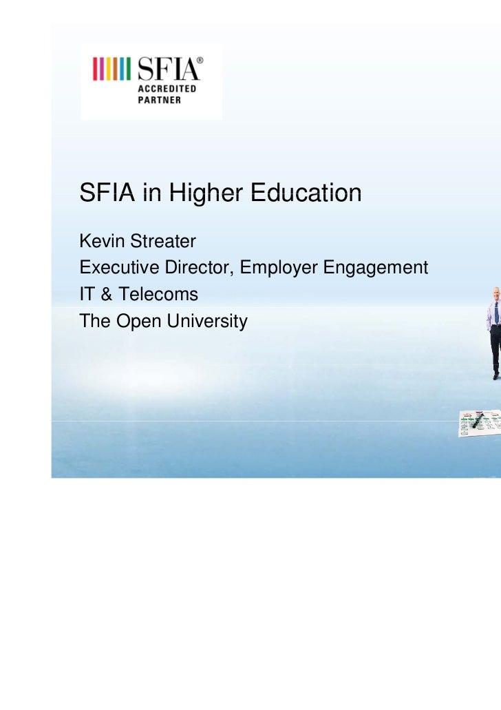 Kevin Streater SFIA Open University