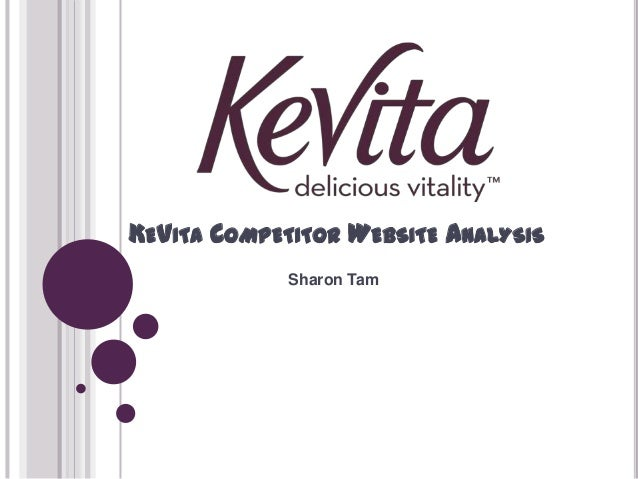 Kevita competitor website analysis