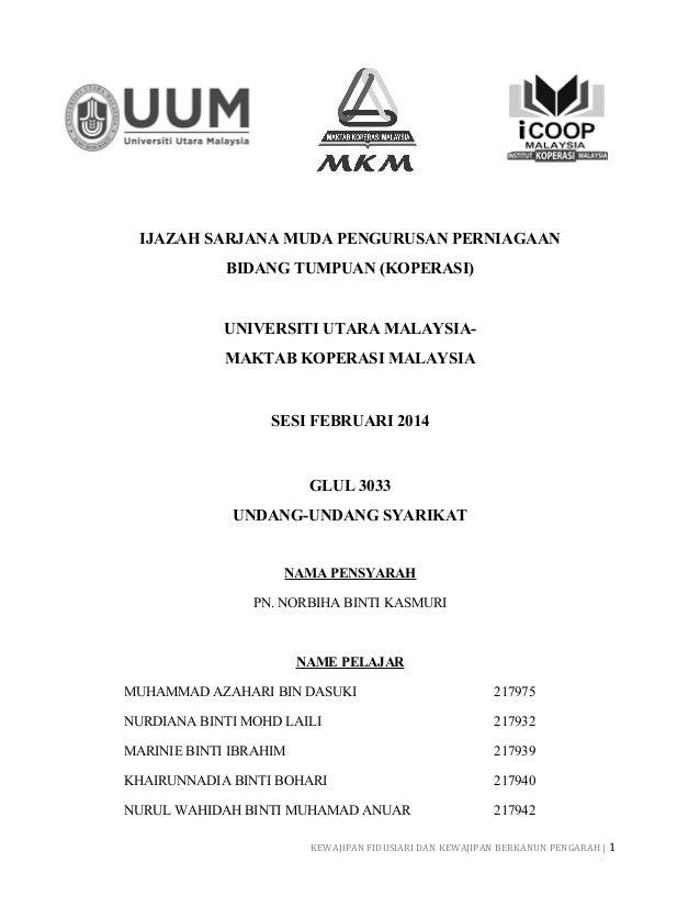 IJAZAH SARJANA MUDA PENGURUSAN PERNIAGAAN BIDANG TUMPUAN (KOPERASI) UNIVERSITI UTARA MALAYSIA- MAKTAB KOPERASI MALAYSIA SE...