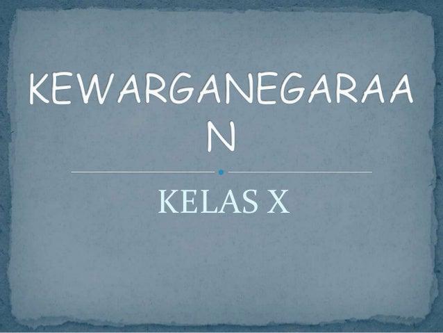 KELAS X