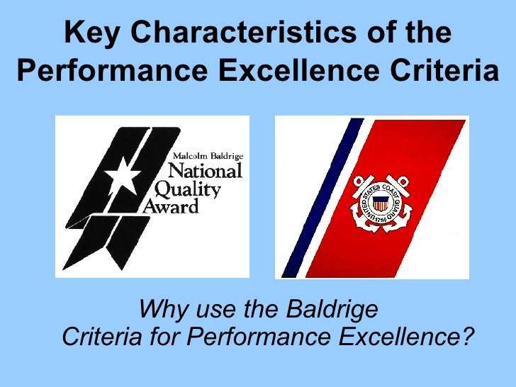 malcolm baldrige criteria for performance excellence pdf