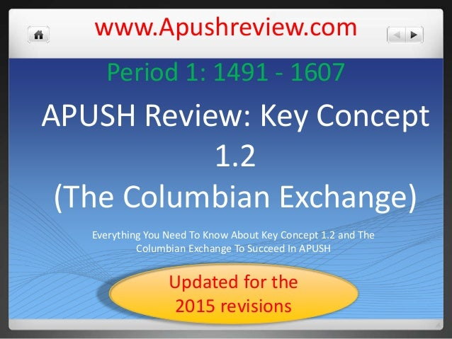 review columbian exchange Chapter study outline [introduction: columbian exchange] the first americans  the settling of the americas indians settled the new world between 15,000.