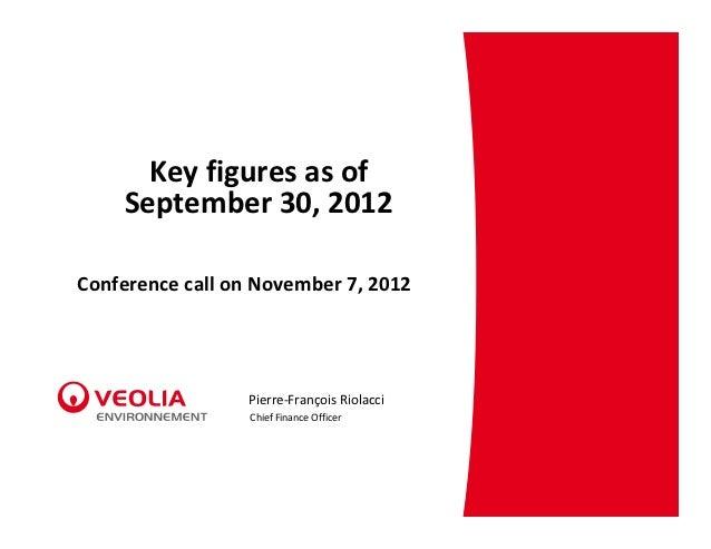 Keyfiguresasof    September30,2012ConferencecallonNovember7,2012                 Pierre‐FrançoisRiolacci       ...