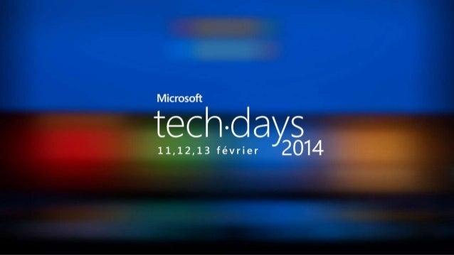 [Tech Days 2014 - Plénière J1] Votre futur est dans le code