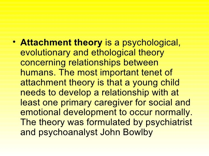 the evolutionary theory of attachment Click for revised pdf version (oct 2008) live long and prosper: a note on  attachment and evolution attachment theory describes someone as secure if  they.