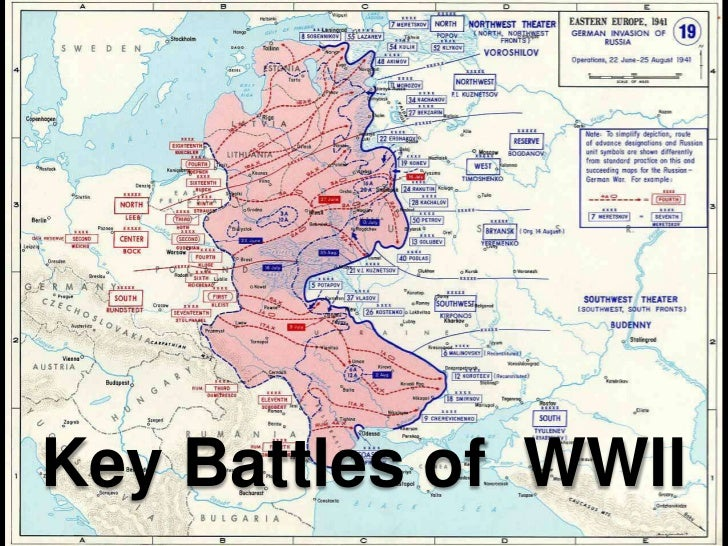 Map of WWII - Major Operations in Europe - emersonkent.com