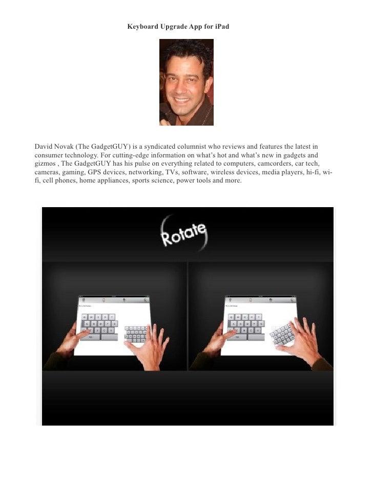 Keyboard upgrade app for i pad  david novak (thegadgetgu-ycolumn.com)