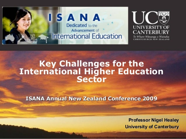 Key challenges for the international education sector