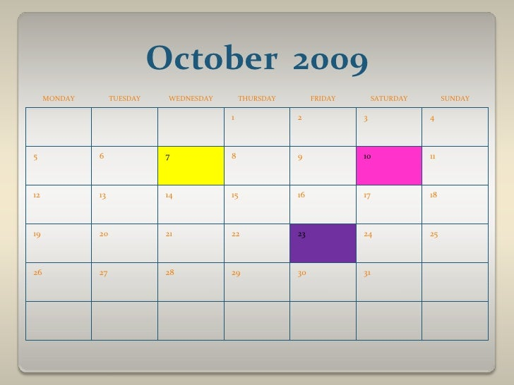 October  2009<br />