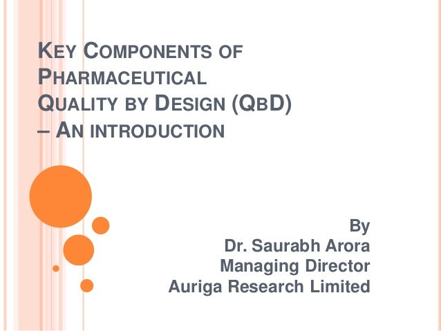 key components of pharmaceutical qbd an introduction
