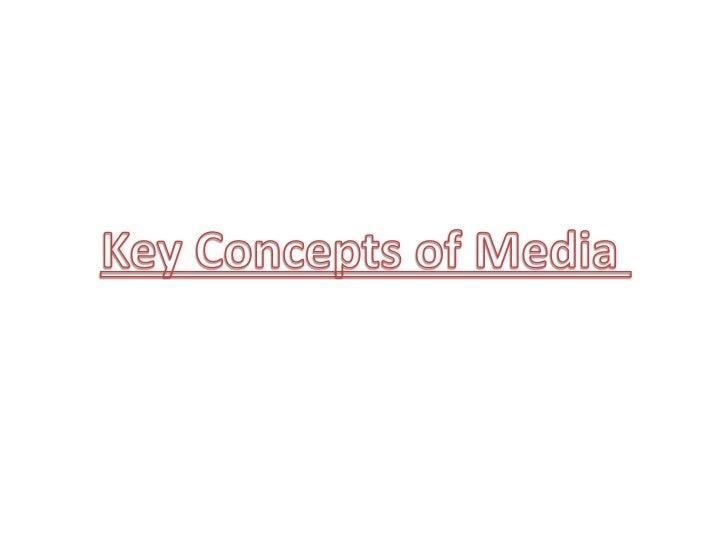 Key concepts of media