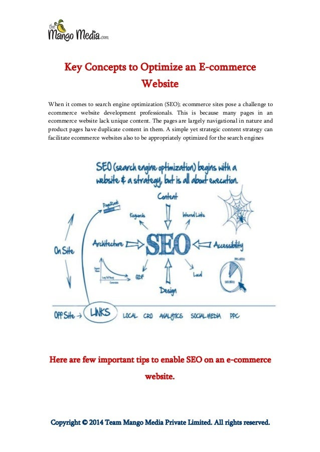 Key Concepts to Optimize an E-commerce Website
