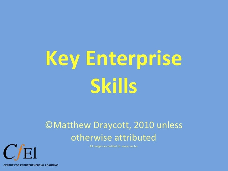 Key enterprise skills