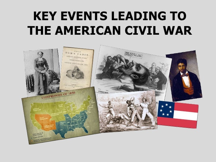 KEY EVENTS LEADING TO THE AMERICAN CIVIL WAR