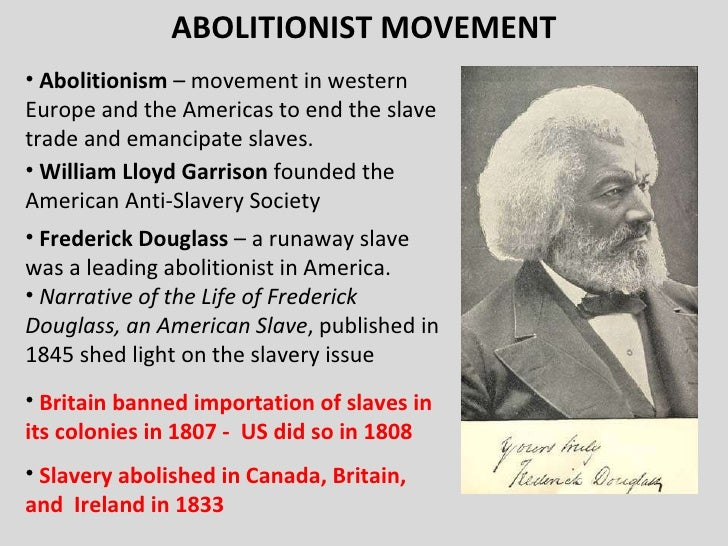 the abolitionist movement essay