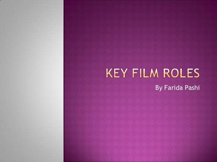 Key Film Roles