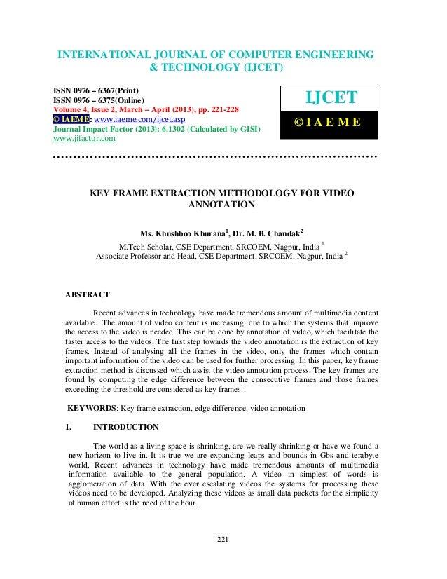 International Journal of Computer Engineering and TechnologyENGINEERING INTERNATIONAL JOURNAL OF COMPUTER (IJCET), ISSN 09...