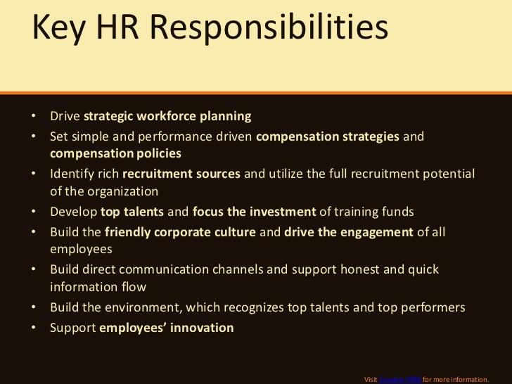 hrm duties and responsibilities