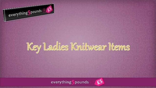 Key ladies knitwear items