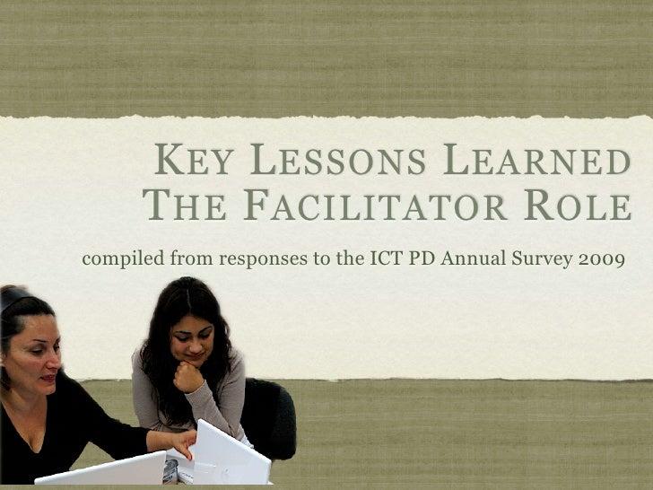 Key lessons for facilitators 09
