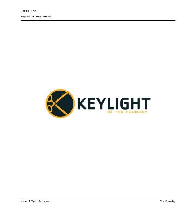 Keylight ae user guide
