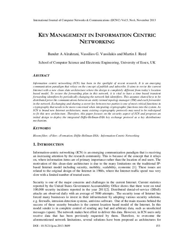 Key management in information centric networking