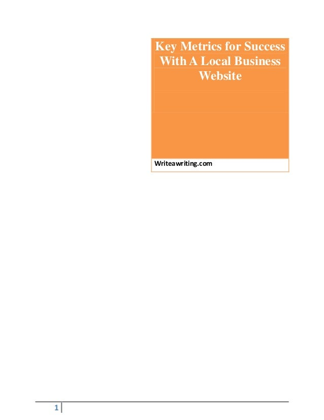 Key Metrics for Success with a Local Business Website