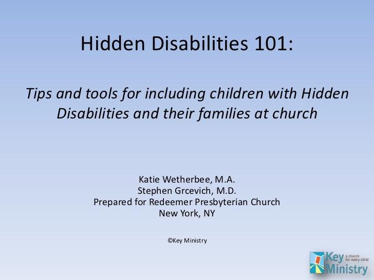 Key Ministry Hidden Disability Review, Redeemer Presbyterian