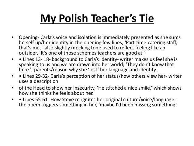 my polish teachers tie Here is the powerpoint that we went through in the revision session today the essay structure at the start is purely to give people an idea of how to approach their essay: polish teachers tie from themerch78.