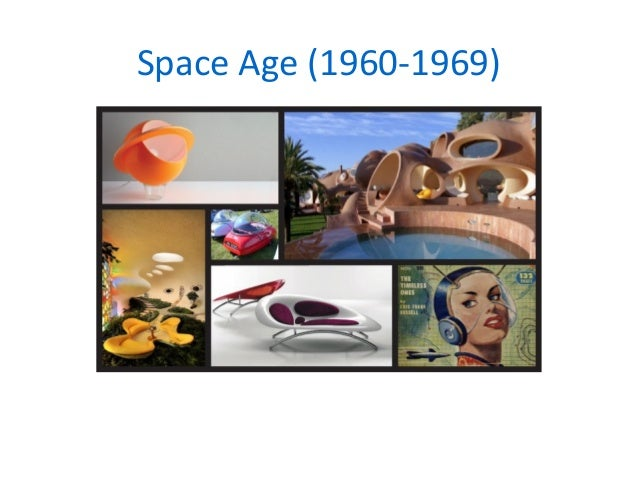 Key movements in design for Space age design