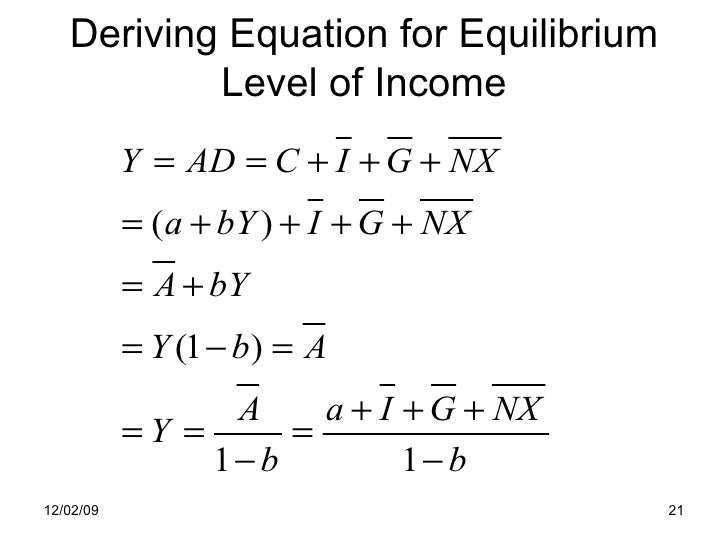 equilibrium level of income First fiscal model and equilibrium level of income/output the model assumes that government taxes (t) are autonomous, that is independent of the income level.