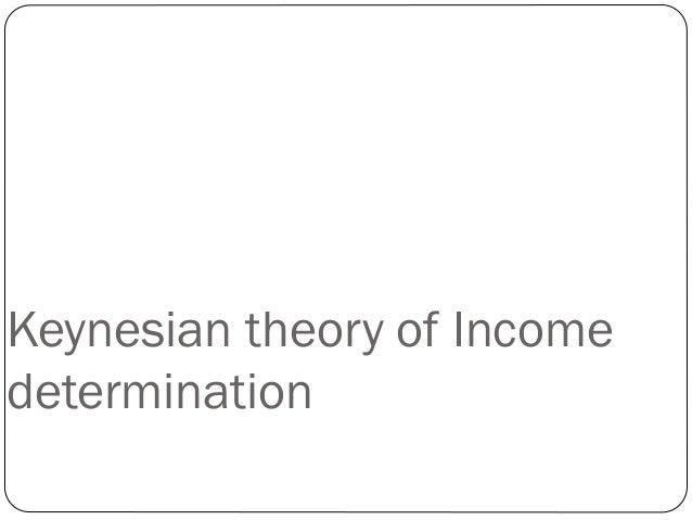 Keynesian theory of Income determination