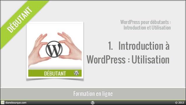 1. Introduction à WordPress : Utilisation