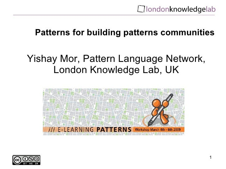 Patterns for building patterns communities
