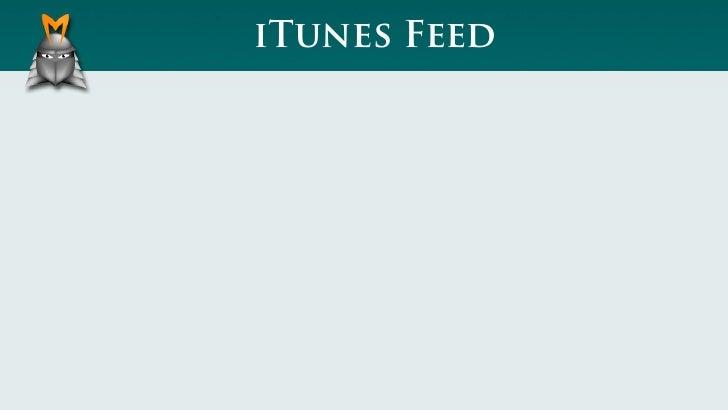iTunes Feed