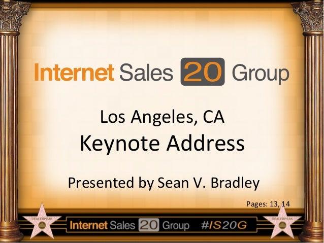 Internet Sales 20 Group Keynote