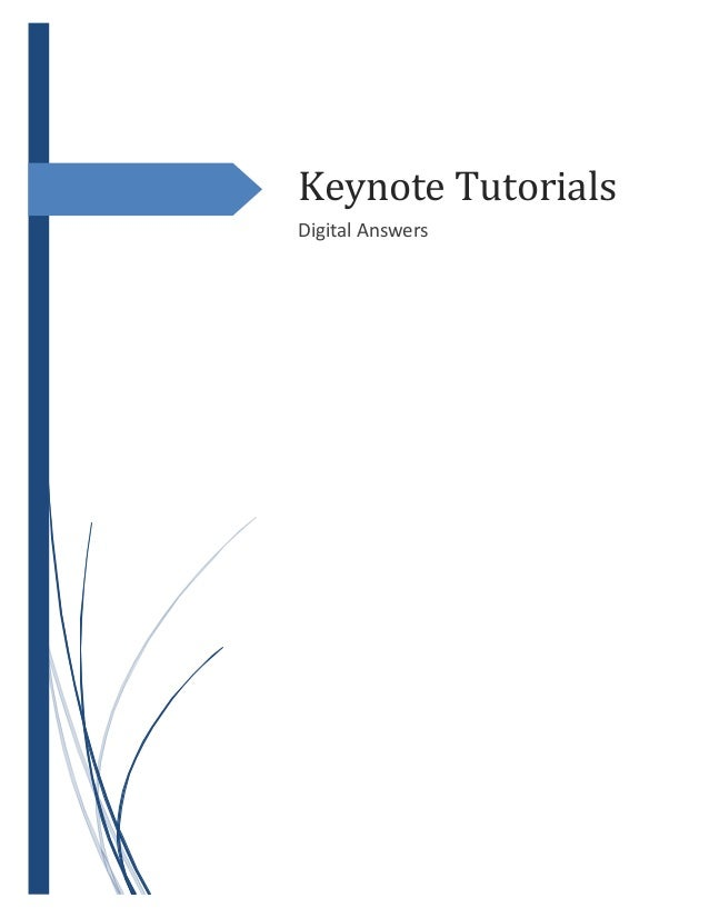 Keynote Tutorials Digital Answers
