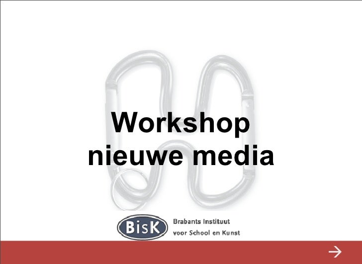 Studiedag Nieuwe Media BISK