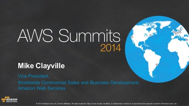 AWS Summit 2014 - Melbourne - Keynote by Mike Clayville