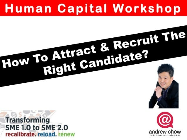 How to attract  and employ the right candidate