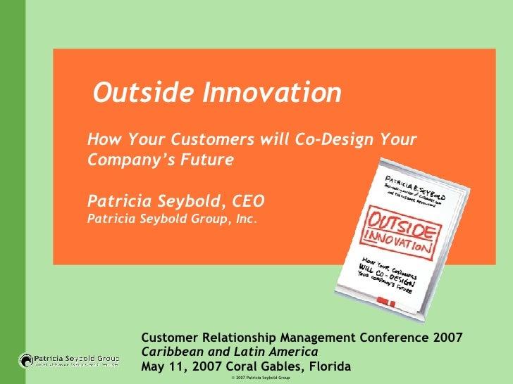 KEYNOTE SPEAKER: Patricia Seybold, Patricia Seybold Group