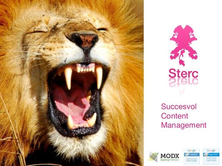 Succesvol content management