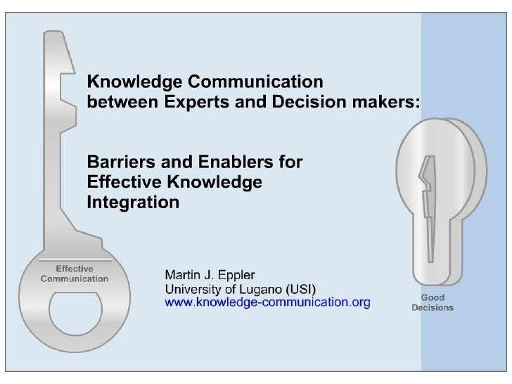 Keynote Aarhus on knowledge communication